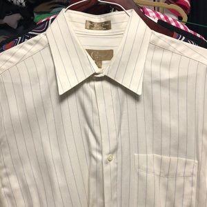 Chiarelli men's shirt 15 1/2 x 32/33. French cuffs
